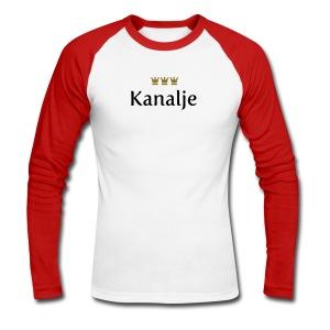 Kanalje - Männer Baseballshirt langarm