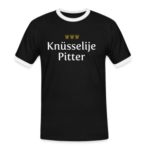 Knuesselije Pitter - Männer Kontrast-T-Shirt