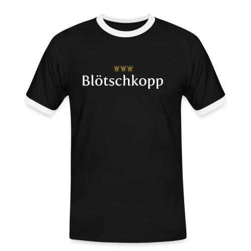 Bloetschkopp - Männer Kontrast-T-Shirt