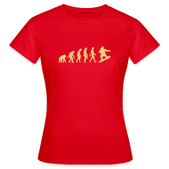 T-shirts ~ Vrouwen T-shirt ~ Evolution of snowboarding