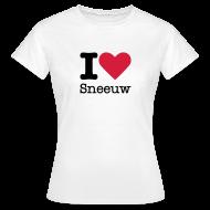 T-shirts ~ Vrouwen T-shirt ~ I Love Sneeuw
