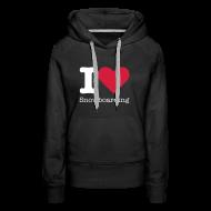Sweaters ~ Vrouwen Premium hoodie ~ I Love Snowboarding