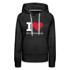 I Love Snowboarding - Vrouwen Premium hoodie