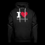 Sweaters ~ Mannen Premium hoodie ~ I Love Snowboarding