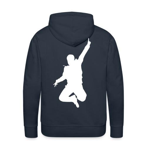 Jumping Man Rück - Kapuzenpulli - Männer Premium Hoodie