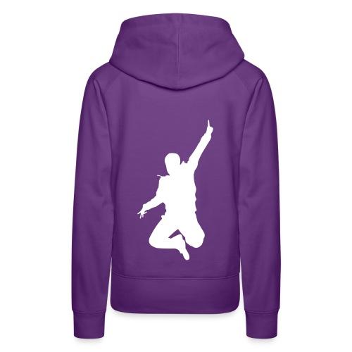 Jumpin Man - Woman  Kapuzenpulli - Frauen Premium Hoodie
