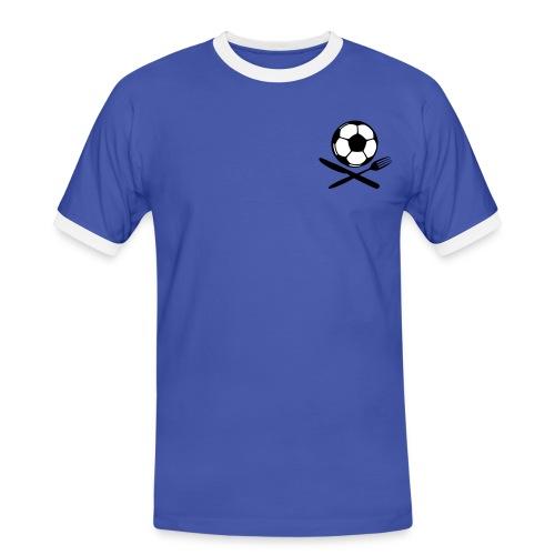 AL DENTE 9 Min. (Azzurro i Bianco) - Männer Kontrast-T-Shirt