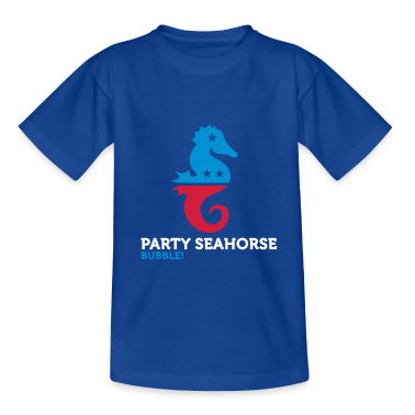 Party Seahorse (3c) Kids' Shirts