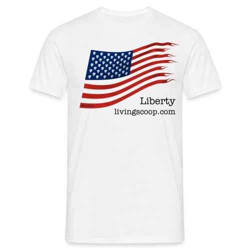 Liberty with livingscoop.com - Men's T-Shirt