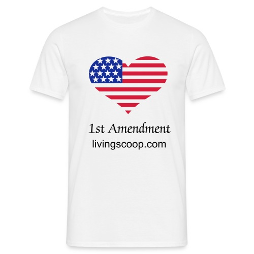 1st Amendment livingscoop.com - Men's T-Shirt