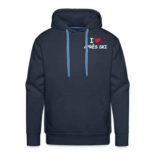 i love apres ski - Premium hettegenser for menn