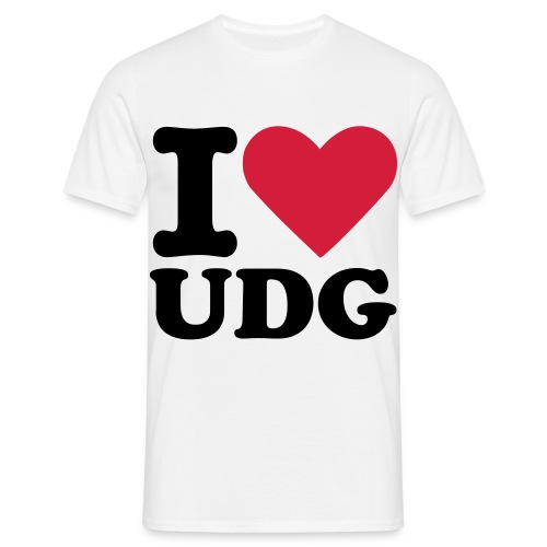 udg i love white - Männer T-Shirt
