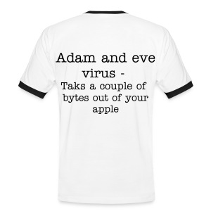 Adam And Eve virus funny shirt. - Men's Ringer Shirt
