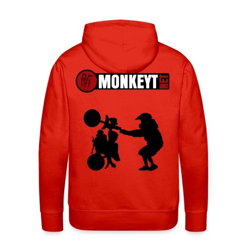 Monkeyt.net huppari Logolla + Monkey käsistä (saa valita hupparin värin) - Miesten premium-huppari