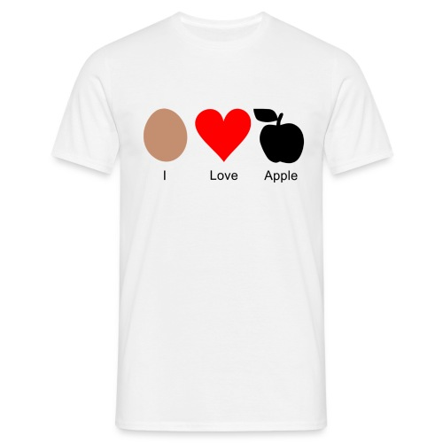 I Love Apple - Männer T-Shirt