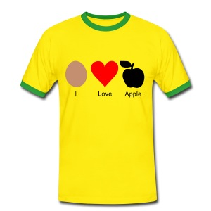 I Love Apple - Männer Kontrast-T-Shirt