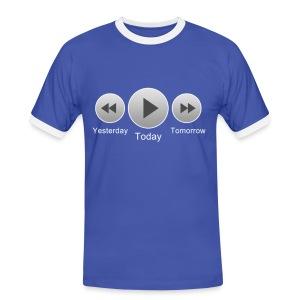 Timetravel - Männer Kontrast-T-Shirt