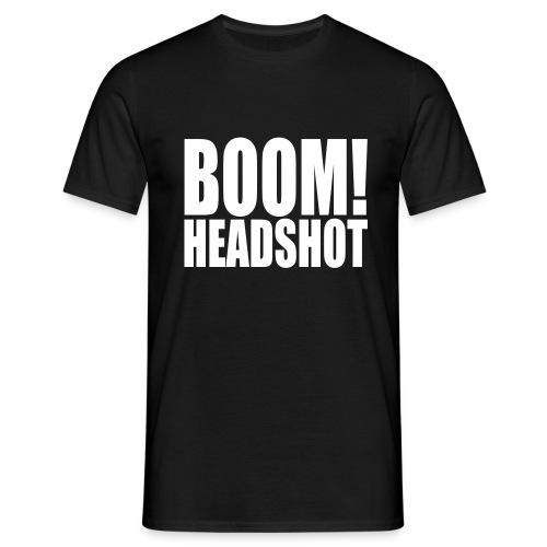 Boom Headshot für Herren - Männer T-Shirt