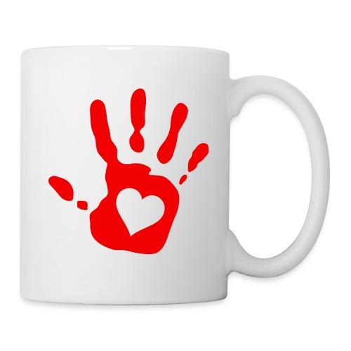 red hand - Tasse