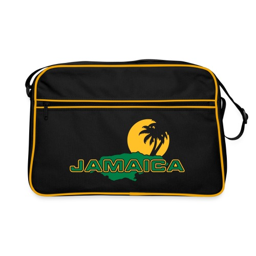 schwarze Retrotasche Jamaica Island Sun Palms - Retro Tasche