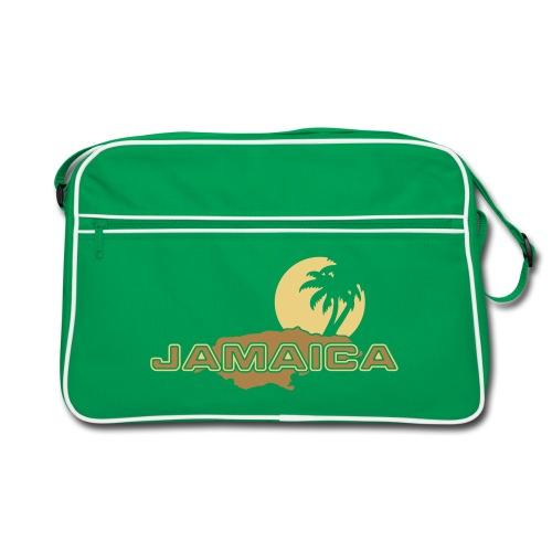 braune Retrotasche Jamaica Island Sun Palms - Retro Tasche