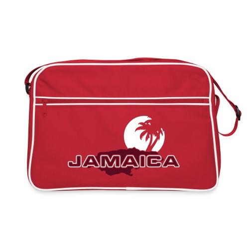 rote Retrotasche Jamaica Island Sun Palms - Retro Tasche