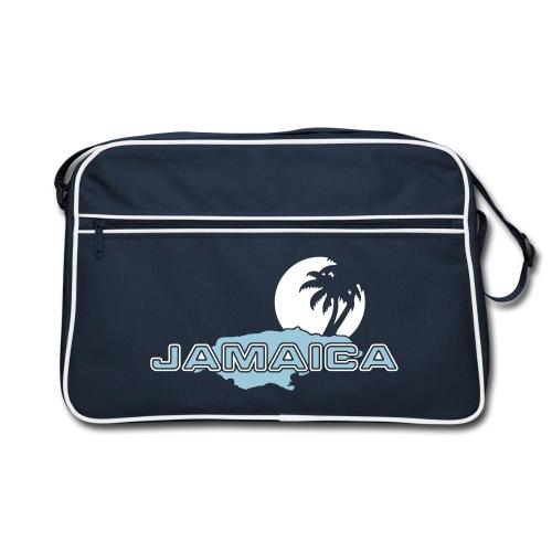 navyfarbene Retrotasche Jamaica Island Sun Palms - Retro Tasche