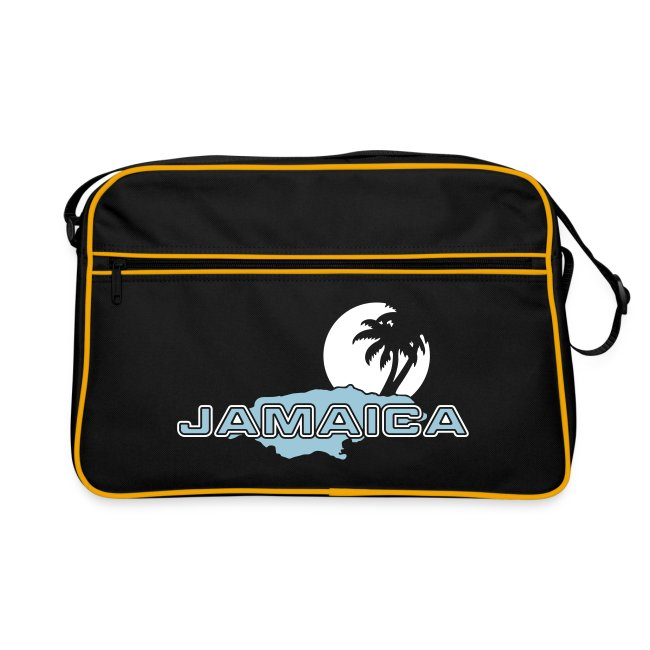 navyfarbene Retrotasche Jamaica Island Sun Palms