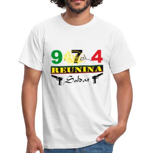 T-shirt Classique Homme  974 Réunina Soldat Ikon - T-shirt Homme