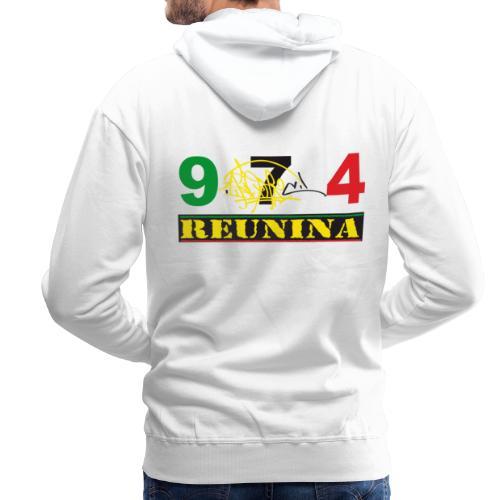 Sweatshirt à capuche Homme 974 Réunina Ikon - Sweat-shirt à capuche Premium pour hommes