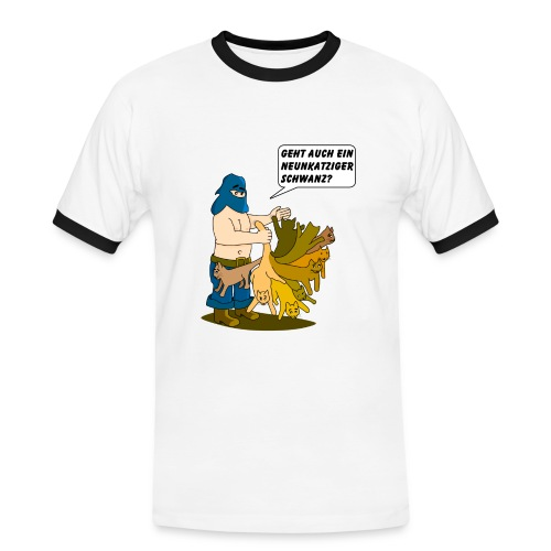Neunkatziger Schwanz - Männer Kontrast-T-Shirt