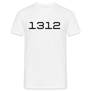 1312 wit - Mannen T-shirt