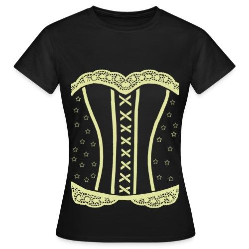 lace beige - T-shirt dam