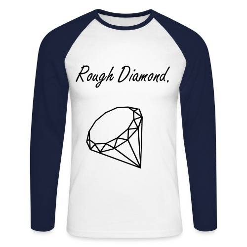 Rough Diamond baseball - Men's Long Sleeve Baseball T-Shirt
