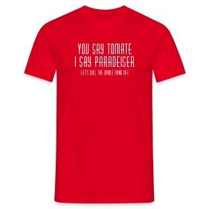 Deutsch-österreichische Versöhnung - Männer T-Shirt