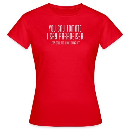 Deutsch-österreichische Versöhnung - Frauen T-Shirt