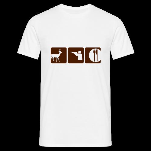 Deer - Shoot - Eat - Men's T-Shirt