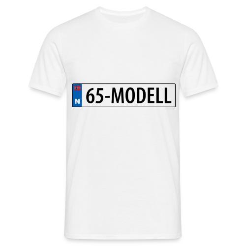65-modell kjennemerke - T-skjorte for menn