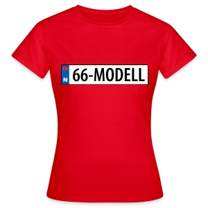 66-modell kjennemerke - T-skjorte for kvinner