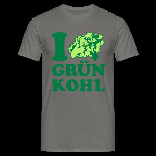 shirt i love grünkohl - Männer T-Shirt
