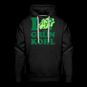 i love grünkohl | kapuzenpullover (hoodie) | für grünkohl und kohlfahrt - Männer Premium Hoodie