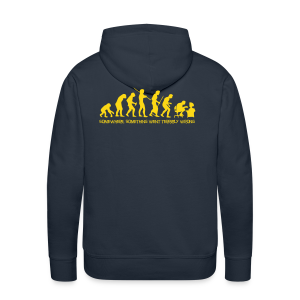 wrong evolution - Men's Premium Hoodie