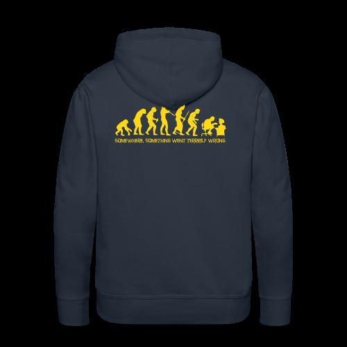 wrong evolution - Men's Premium Hoodie