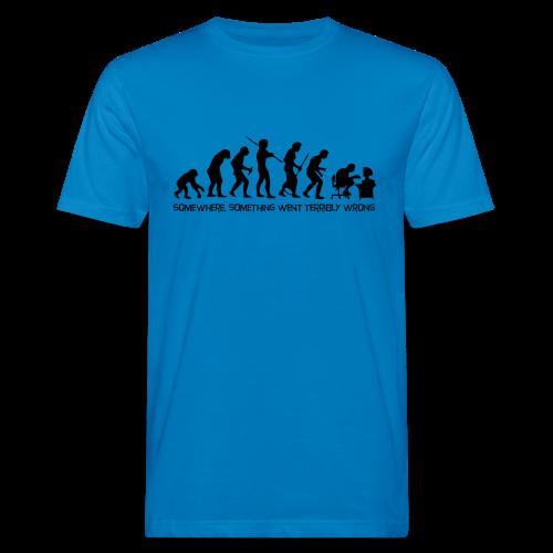 wrong evolution - Men's Organic T-Shirt