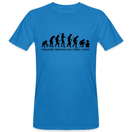 wrong evolution - Men's Organic T-Shirt