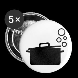 dot.cooking.topf   button (25 mm)   kochtopf, kochen - Buttons klein 25 mm