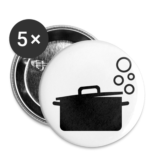 dot.cooking.topf | button (25 mm) | kochtopf, kochen - Buttons klein 25 mm (5er Pack)