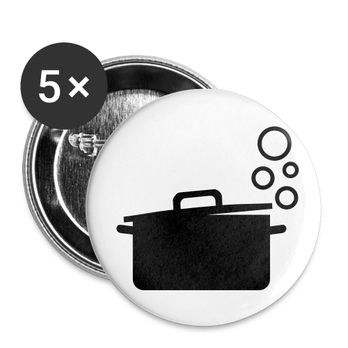 dot.cooking.topf | button (25 mm) | kochtopf, kochen - Buttons klein 25 mm