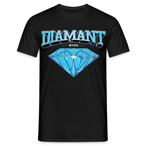 Diamant Byen Tee Black  - T-skjorte for menn