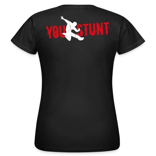 T-Shirt klassisch, schwarz, Logo Rückseite - Frauen T-Shirt